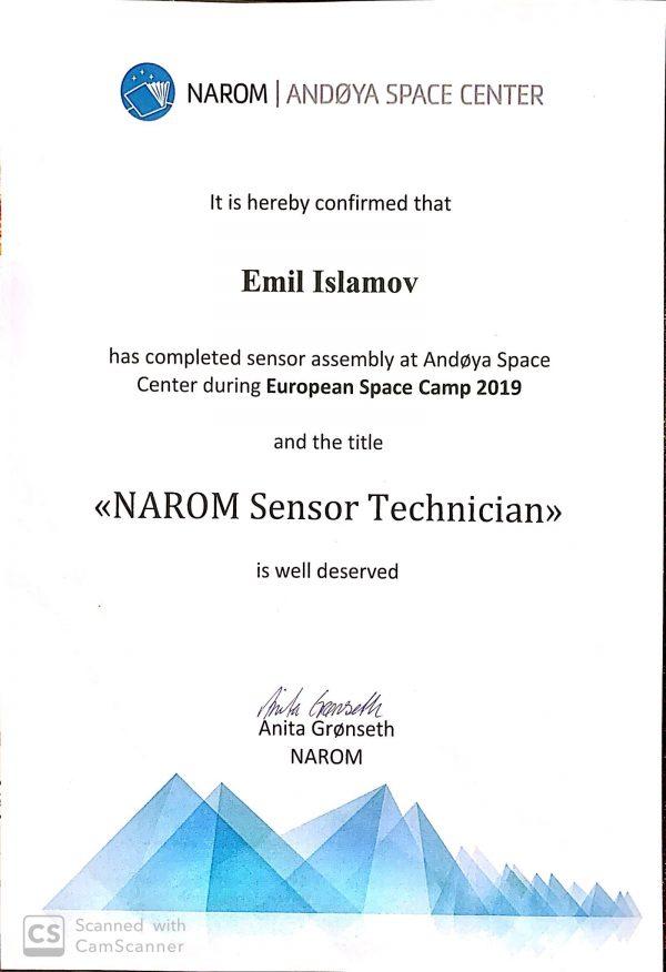 Титул заслуженный специалист Андойя Норвегия 2019